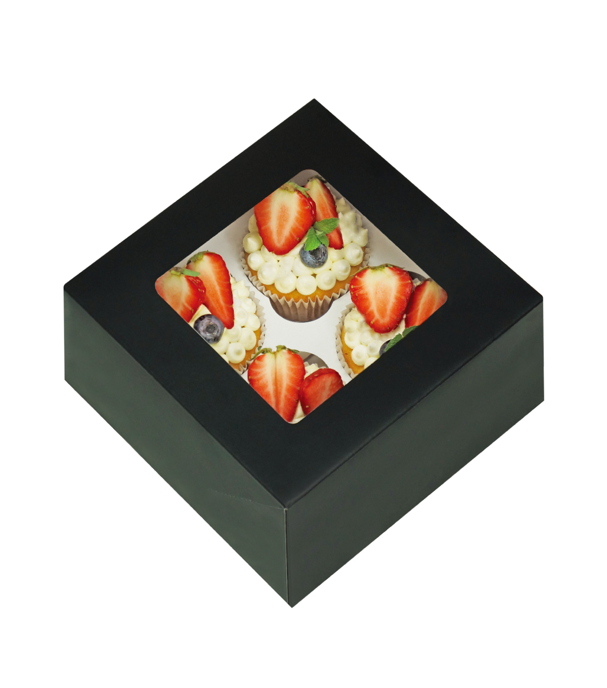 Cupcake Boxes-Holds 4 Standard Cupcakes-Cupcake Heaven