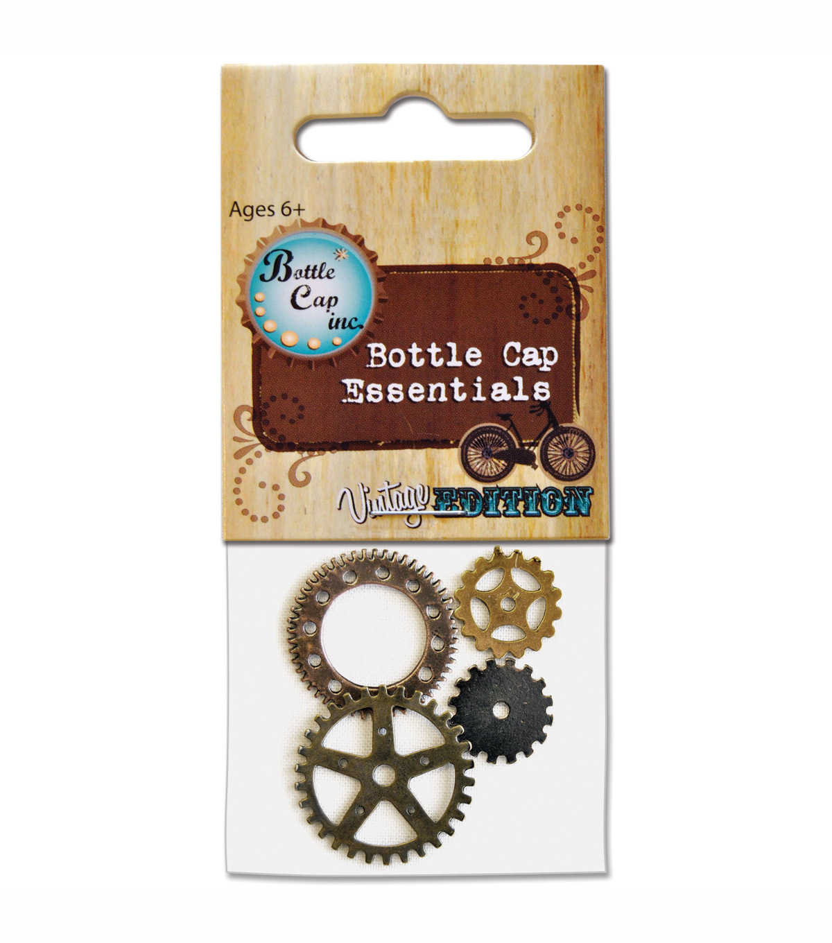 Vintage Collection Bottle Cap Gears 4/Pkg-