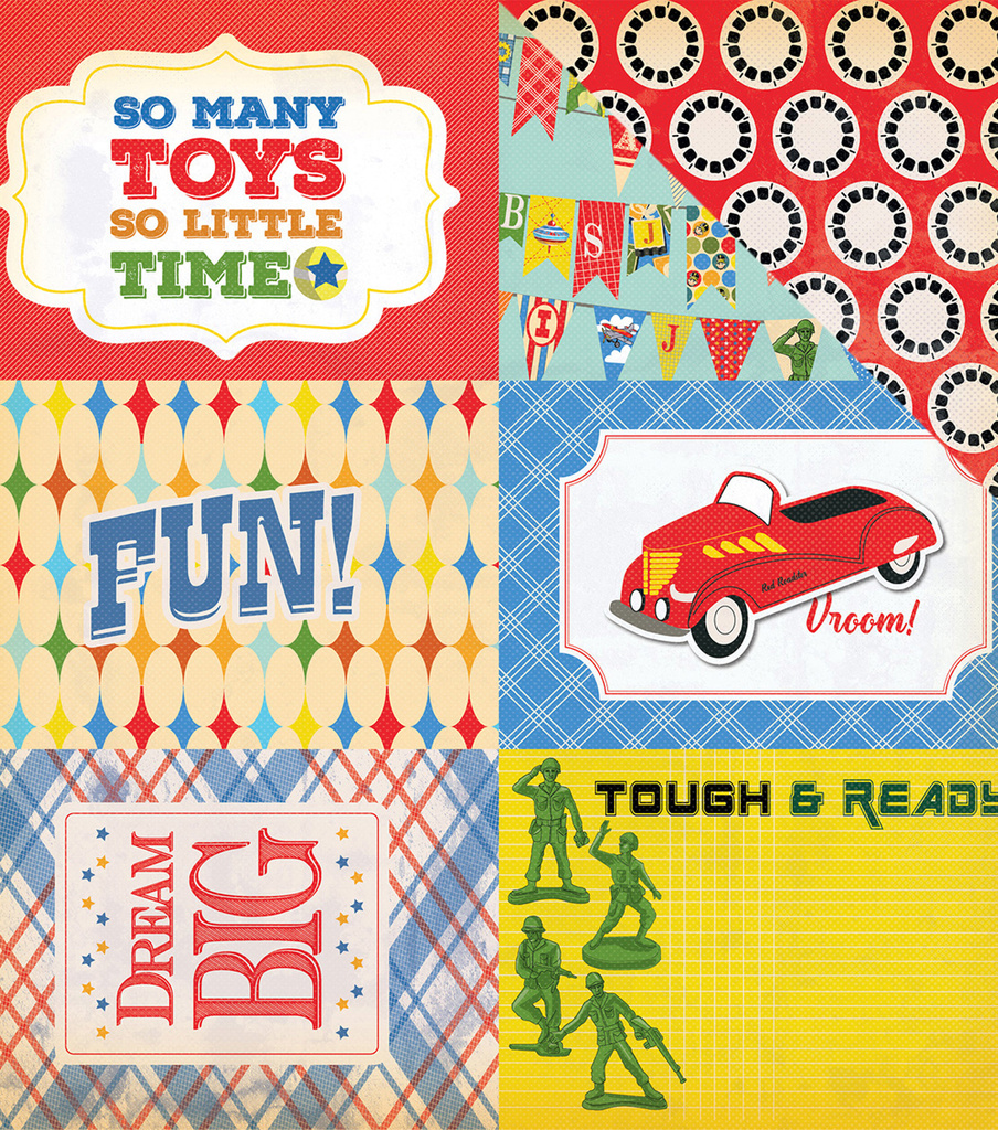 "Toy Box Double-Sided Cardstock 4""X6"" Journaling Cards"