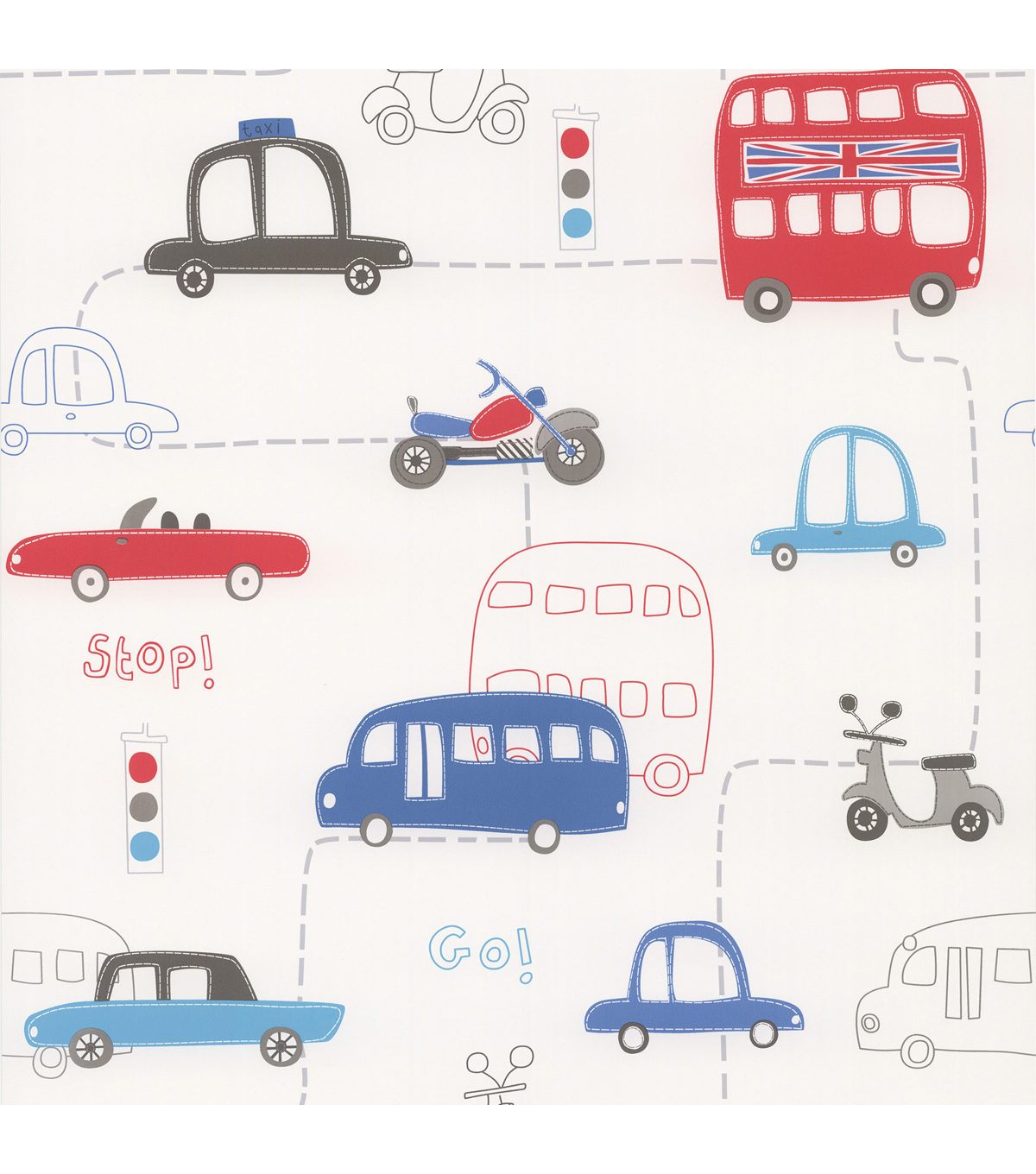 Moto London Red British Autos Wallpaper Sample