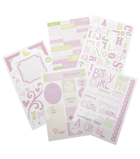 Me & My Big Ideas Sticker Packs-Sweet Baby Girl