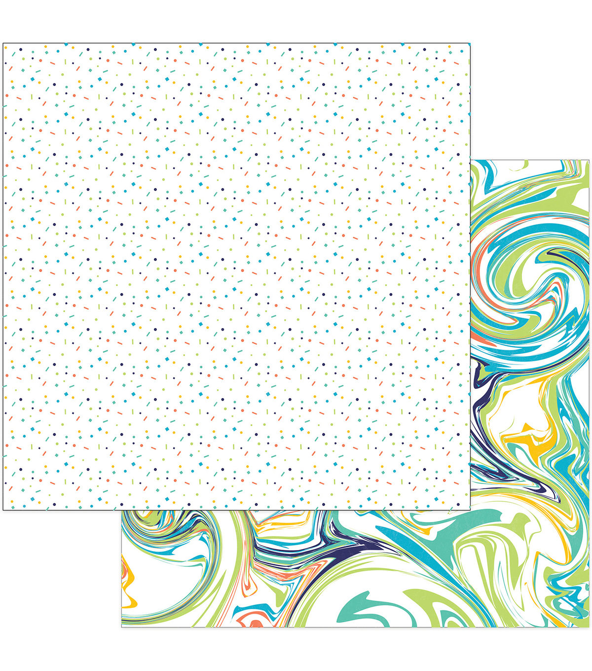 "Cake Party Animal Double-Sided Cardstock 12""X12""-Confetti"