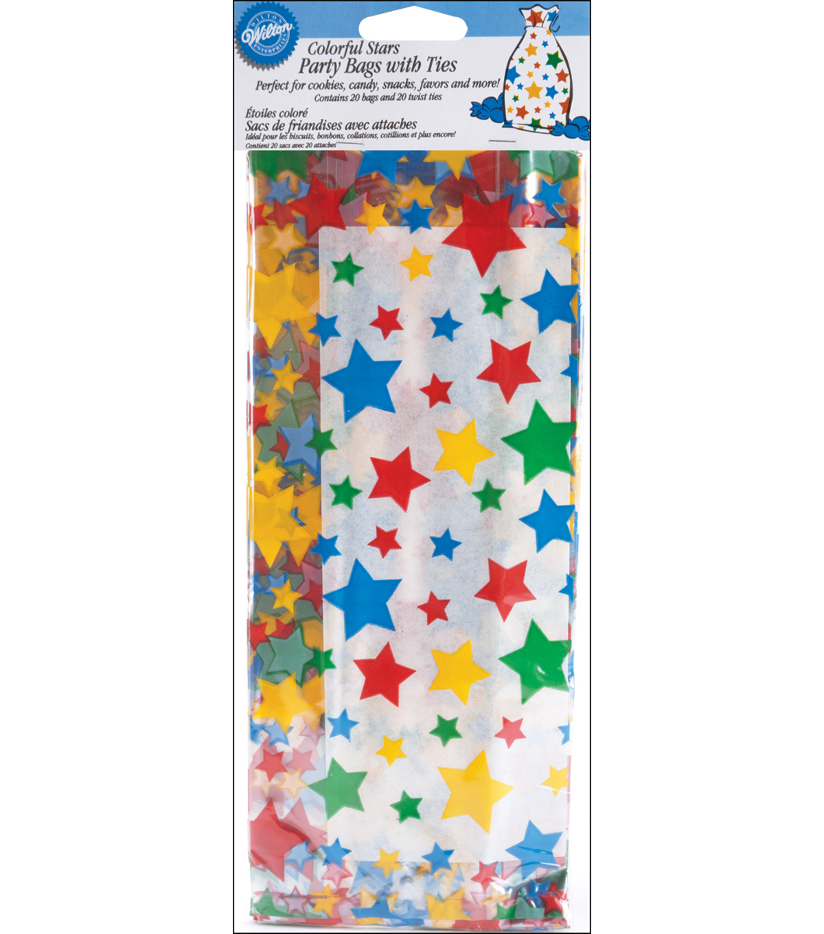 Wilton® Party Bags-Colorful Stars
