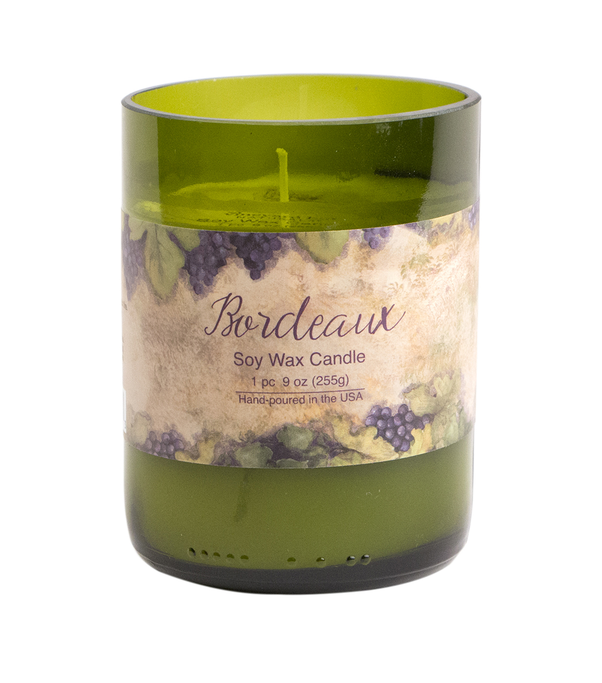 Susan Winget Eco Green Glass Candle Bordeaux 9 ounce