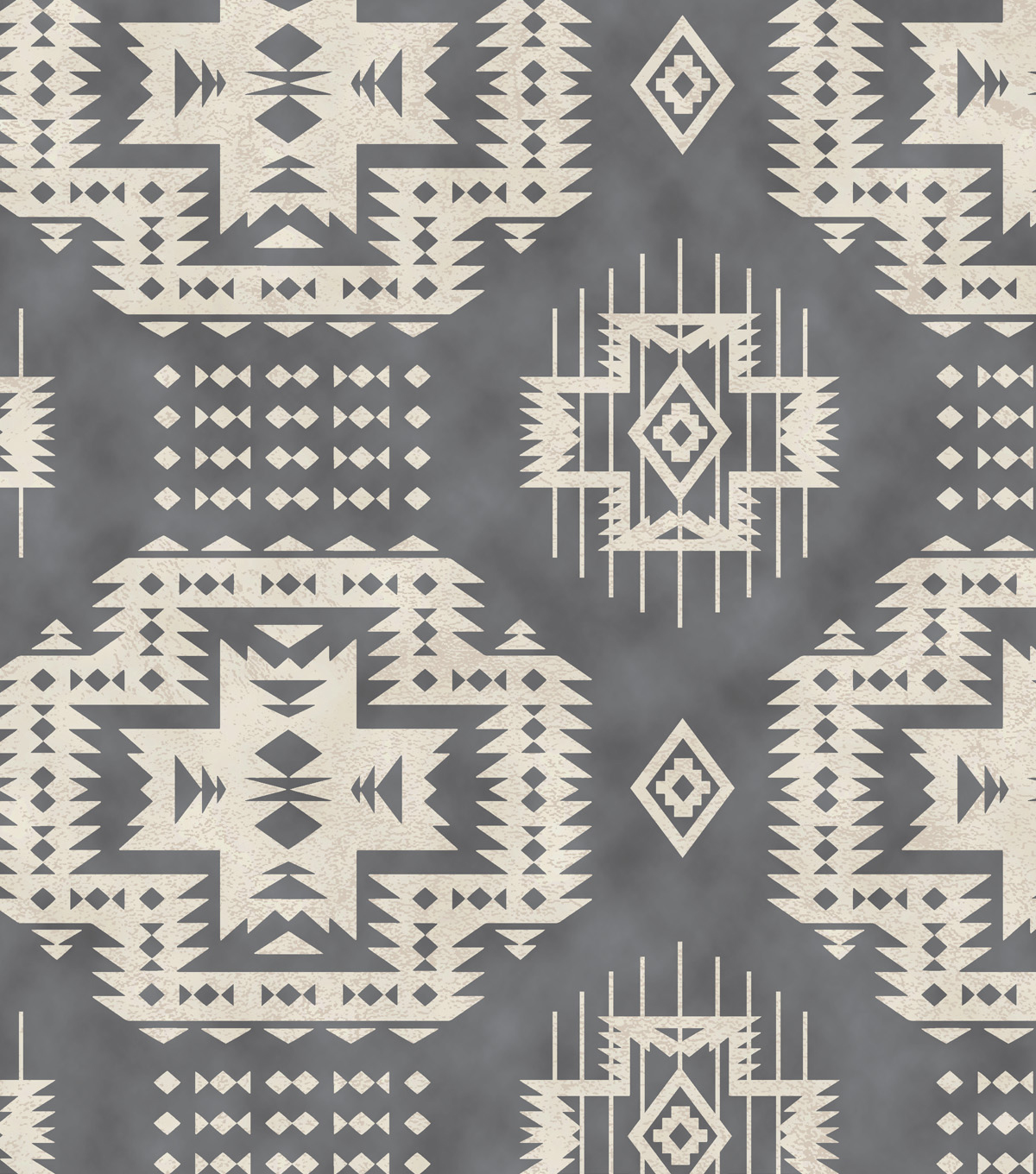Anti-Pill Fleece Fabric 58\u0022-Gray Southwest