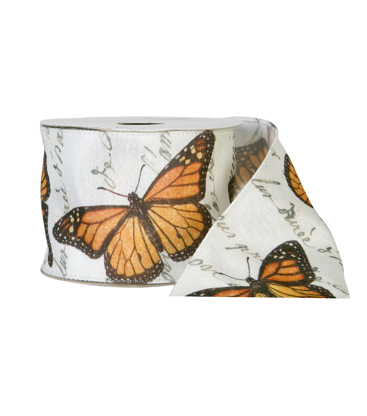 Offray 2.25\u0022x9\u0027 Butterfly Animal Taffeta Wired Edge Ribbon-Multi