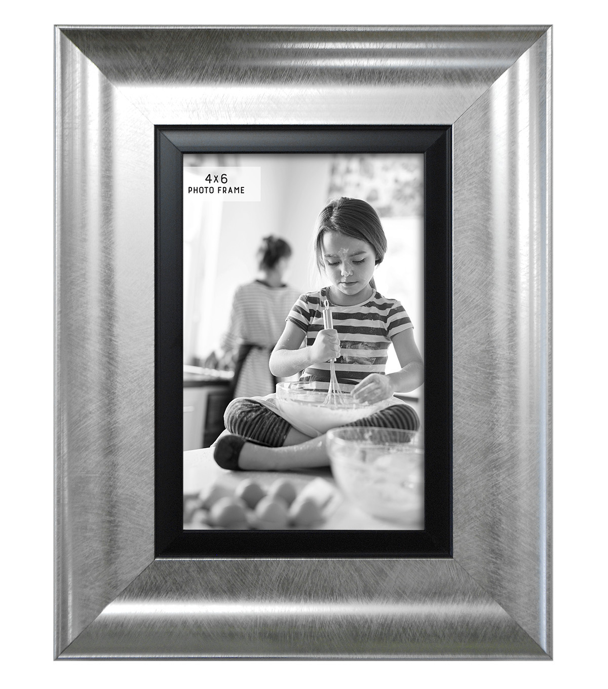 Tabletop Frame 4X6-Wedded Bliss Silver Black