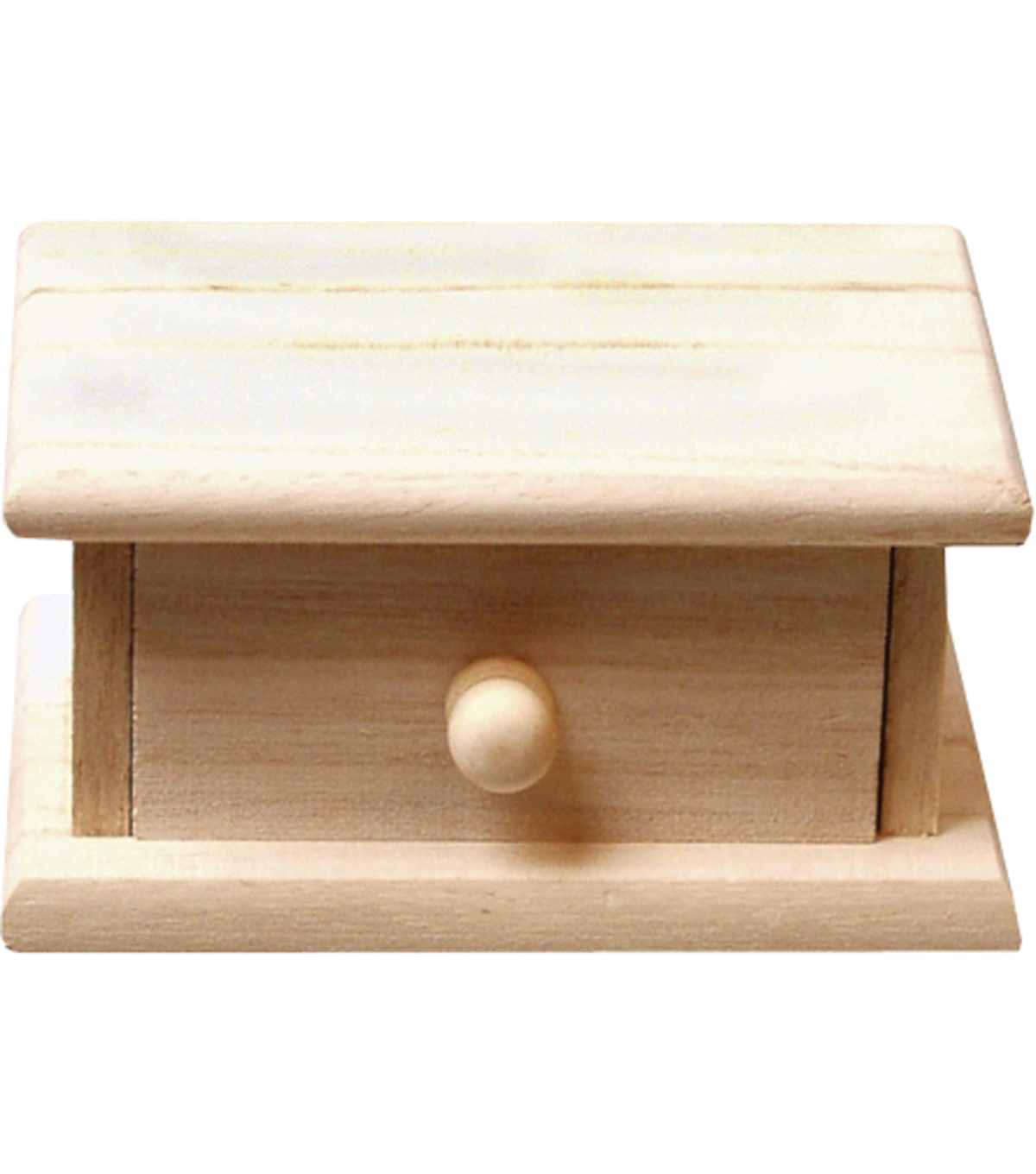 Small Wood Storage Box with Drawer