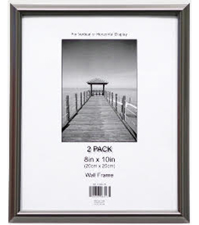 Wall Frame 8X10 2Pk-Pewter