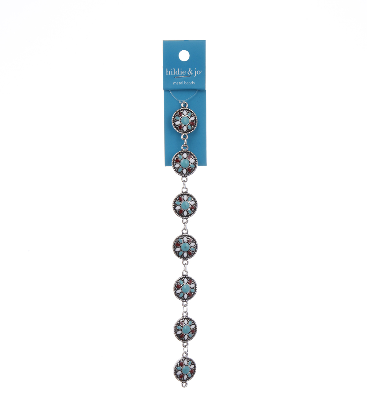 Bliss Beads Metal Turquoise Design