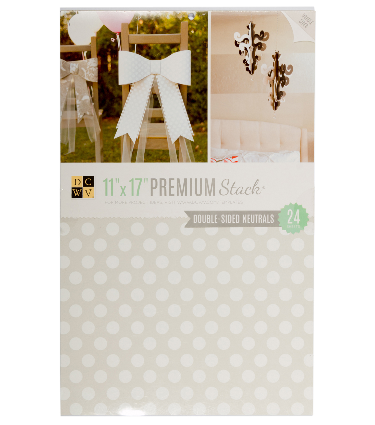 DCWV 11\u0022x17\u0022 Double-sided Printed Cardstock Stack: Neutrals