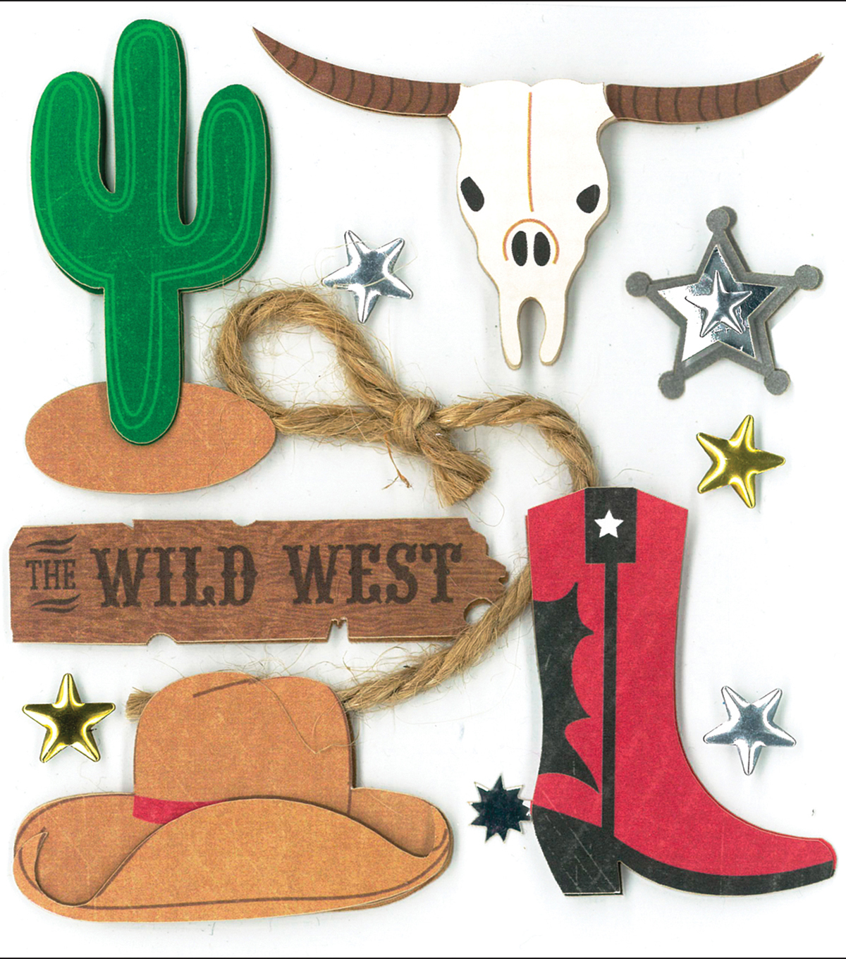 K&Company Dimensional Stickers-Wild West
