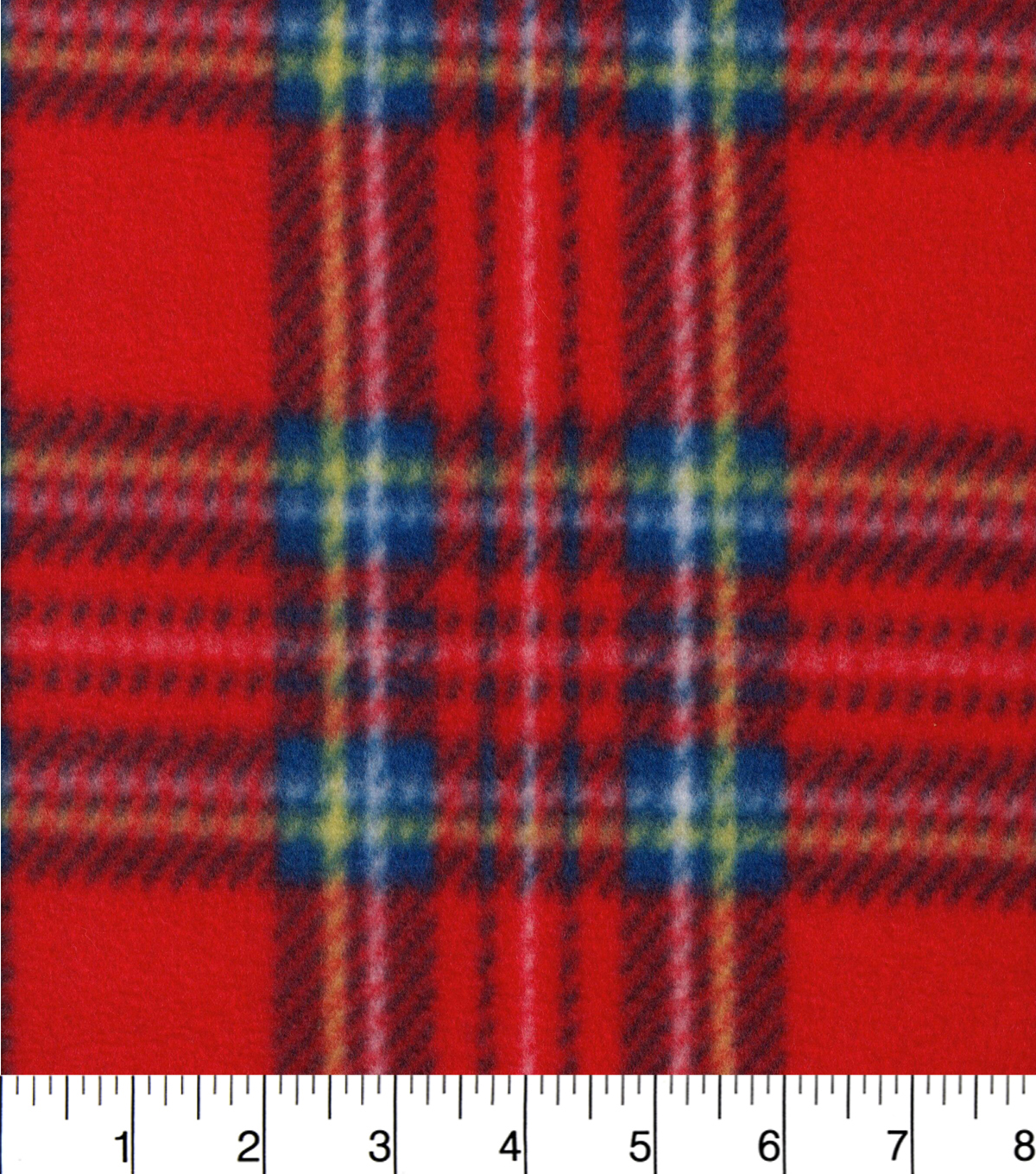 "Blizzard Fleece Fabric 58""-Red Plaid"