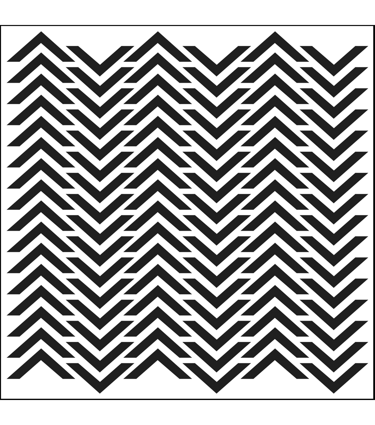 Crafter\u0027s Workshop Template 6\u0022X6\u0022-Chevron