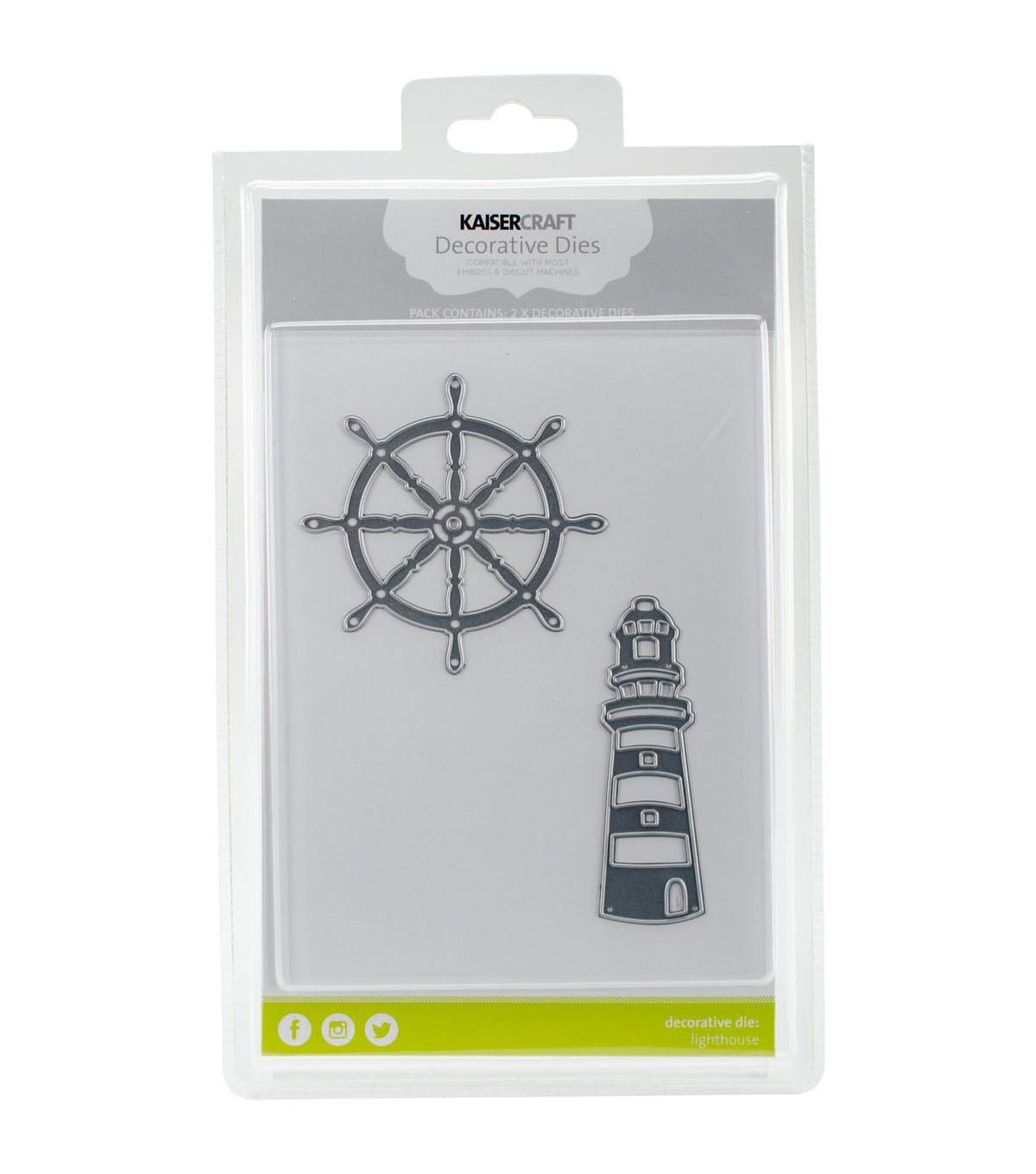 Kaisercraft Dies-Lighthouse & Ships Wheel