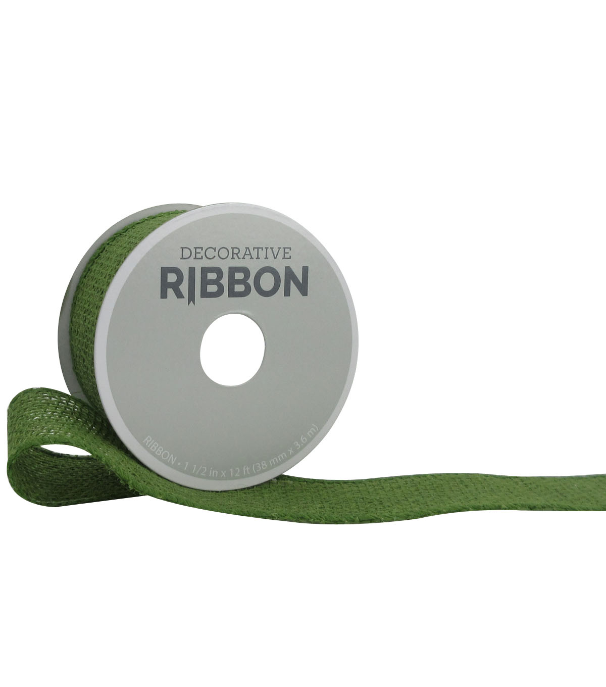 Decorative Ribbon 1.5\u0022 Solid Burlap Ribbon-Green