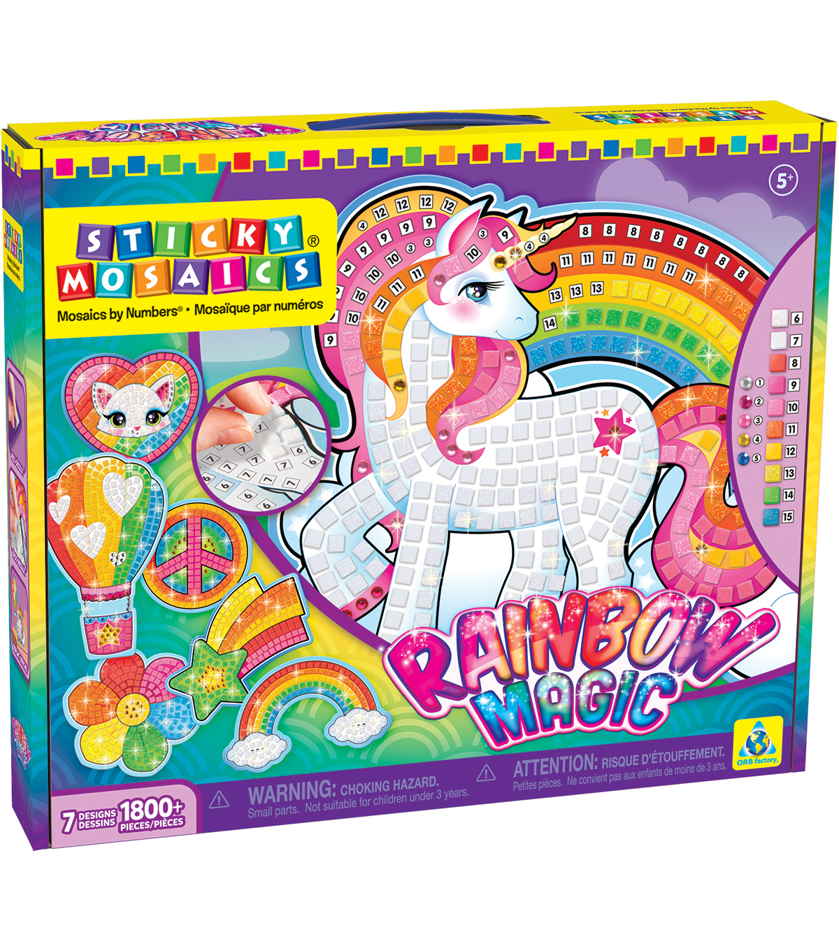 Sticky Mosaics Rainbow Magic Kit
