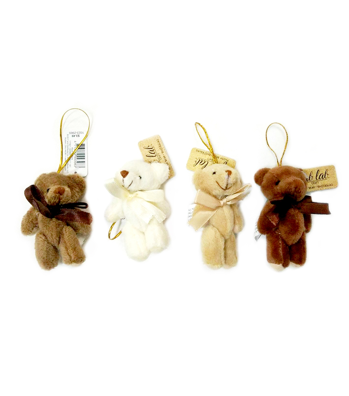 3in Plush Bears with gold String