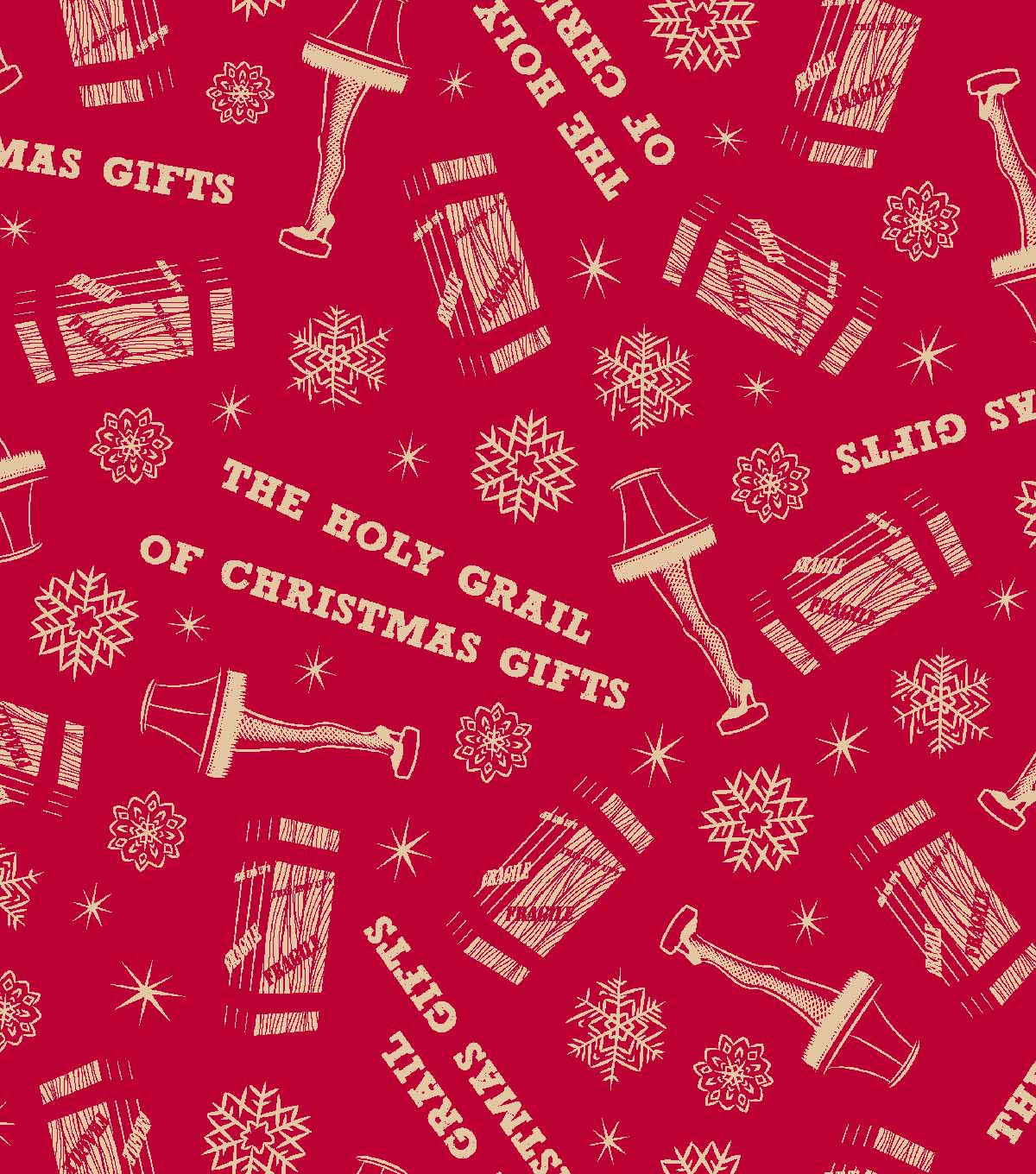 A Christmas Story Print Fabric 57''-Red Leg Lamp