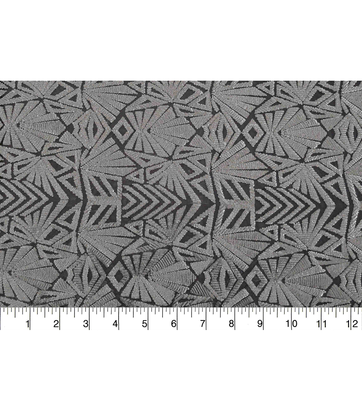 Case Embellish Matte Sequin Fabric 51\u0022-Silver