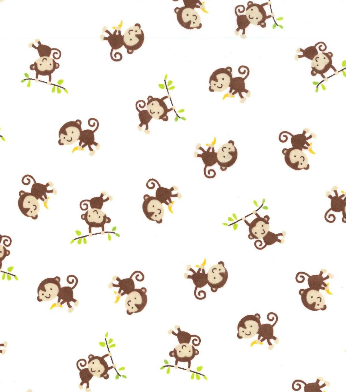 Snuggle Flannel Fabric 42''-Playful Monkey