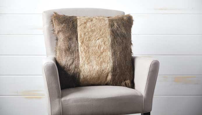 Pieced Fur Pillow