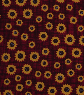 "Holiday Showcase™ Harvest Cotton Fabric 43""-Mini Sunflowers"