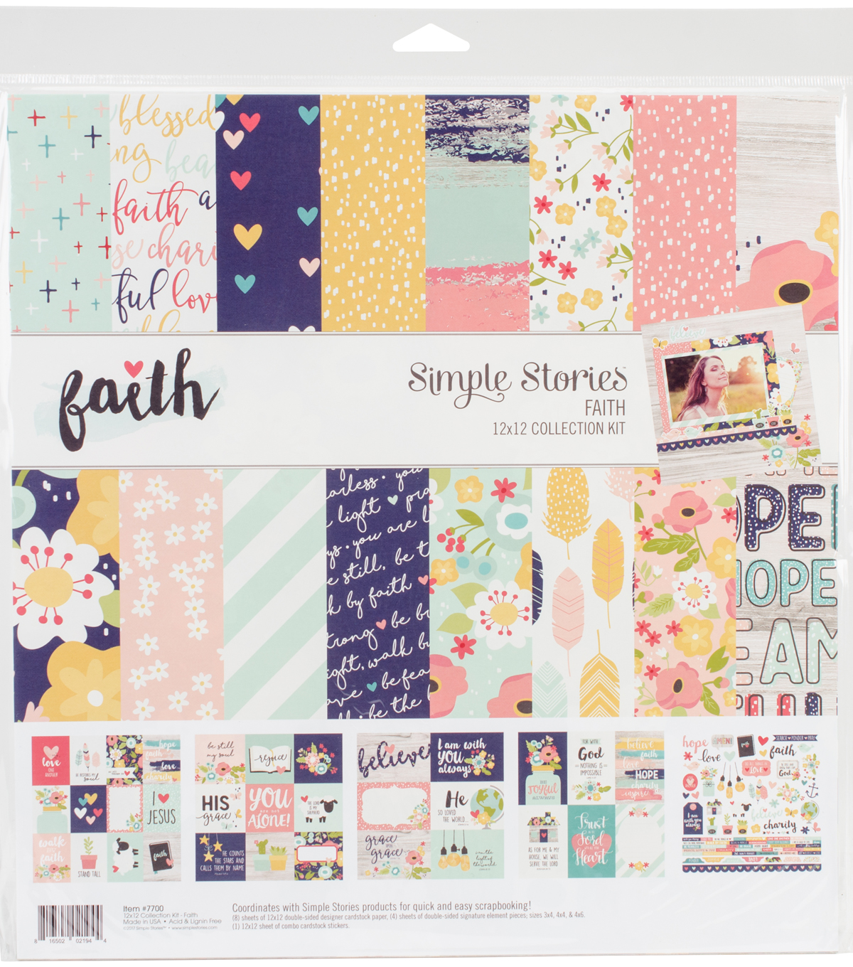 Simple Stories Collection Kit 12\u0022X12\u0022-Faith