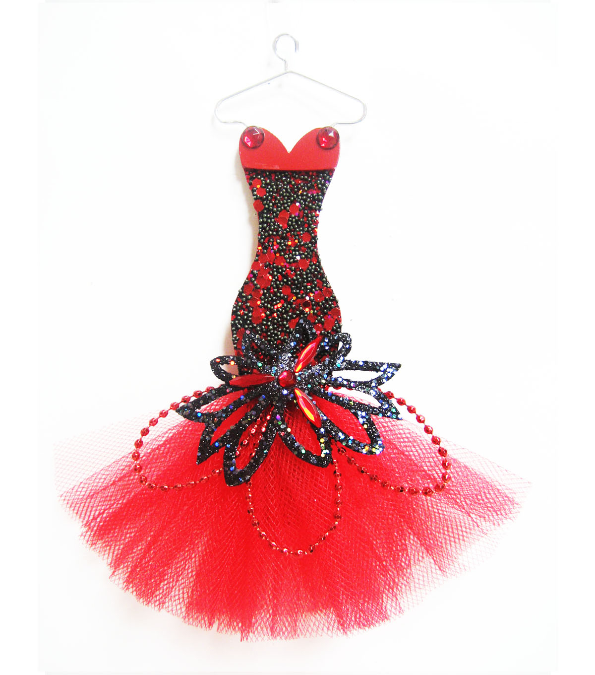 Maker\u0027s Holiday Dress Ornament-Red