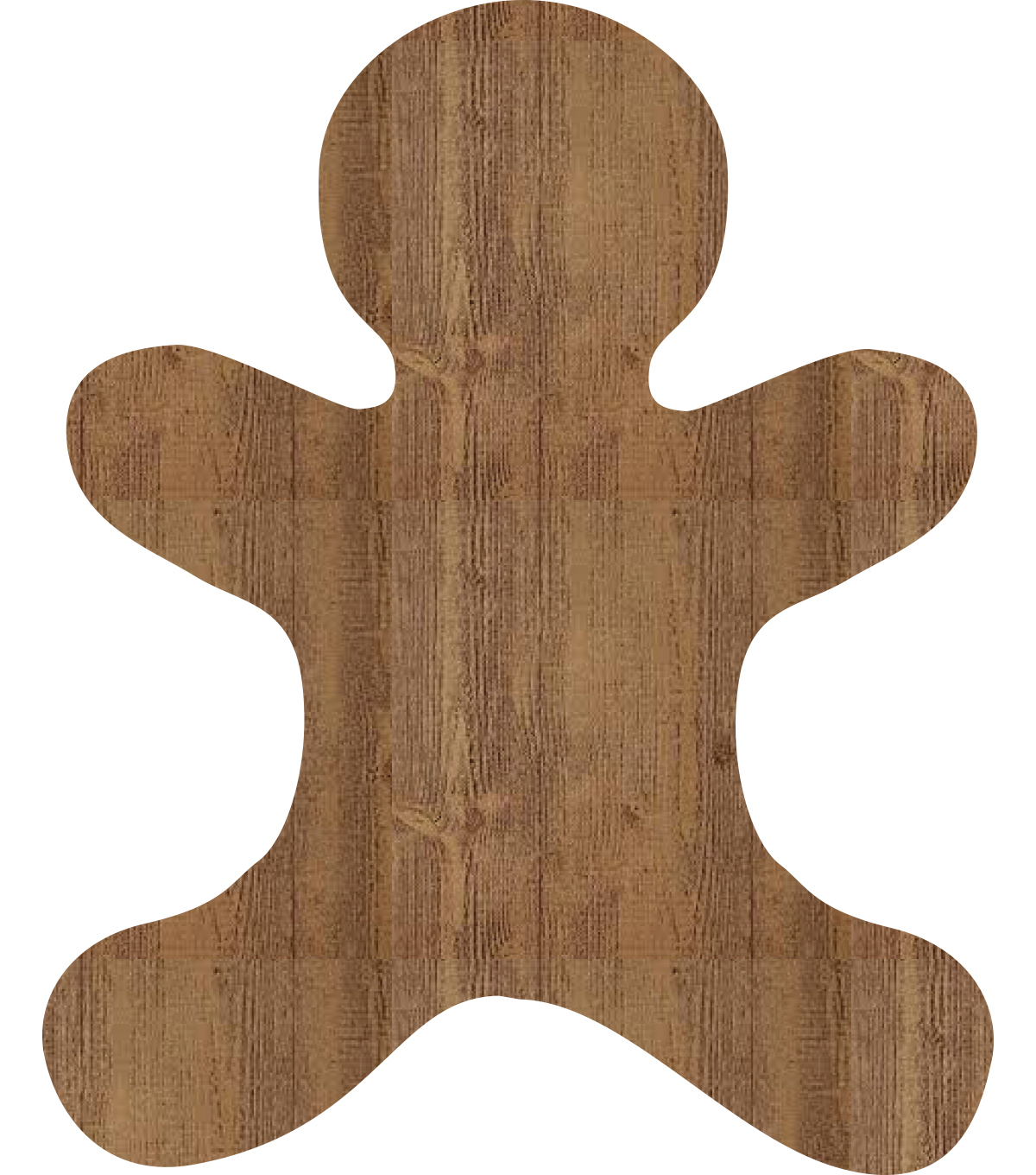 Decorative Wood Plank-Gingerbread