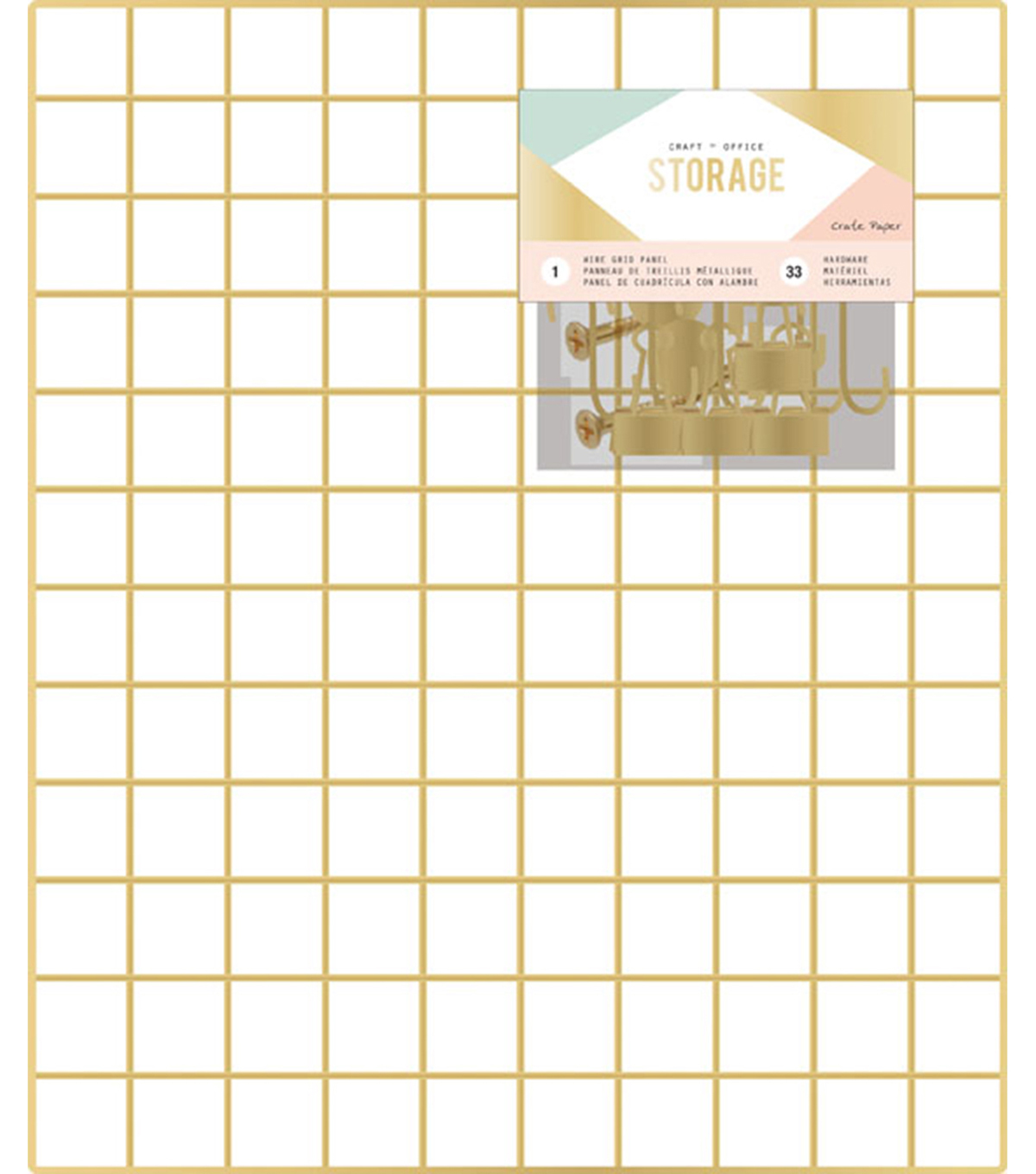 Crate Paper Wire System Grid Panel 20\u0022X24\u0022-Gold