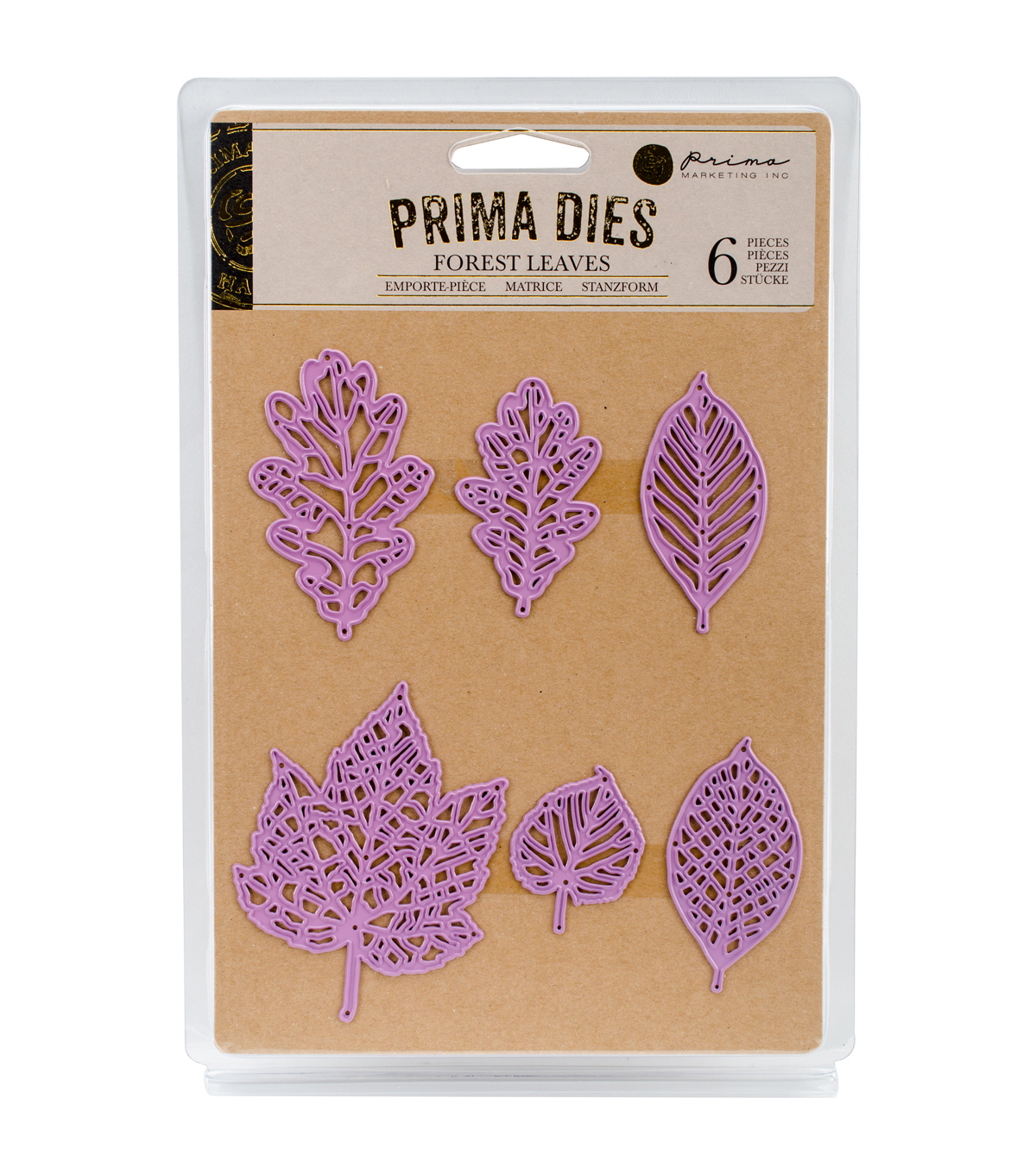 Prima Marketing Purple Metal Die-Forest Leaves
