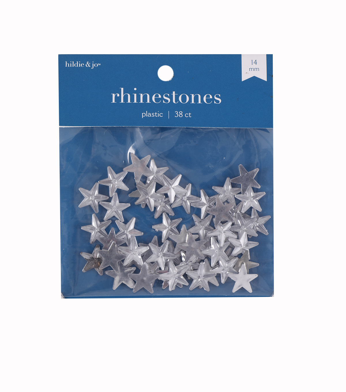 14mm Star Plastic Crystal Rhinestones