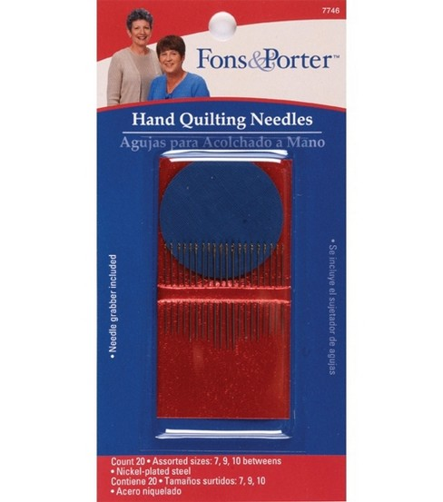 Fons & Porter Hand Quilting Needle Sizes 7, 9 & 10 20pcs