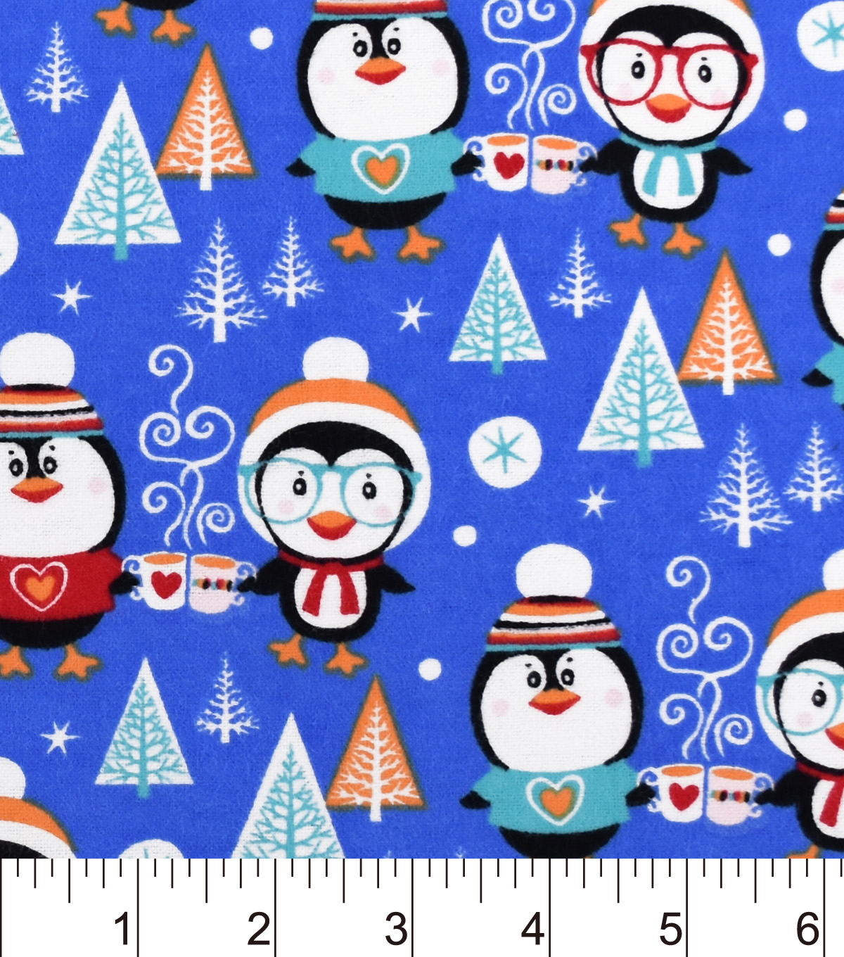 "Snuggle Flannel Fabric 42""-Toasty Penguins"