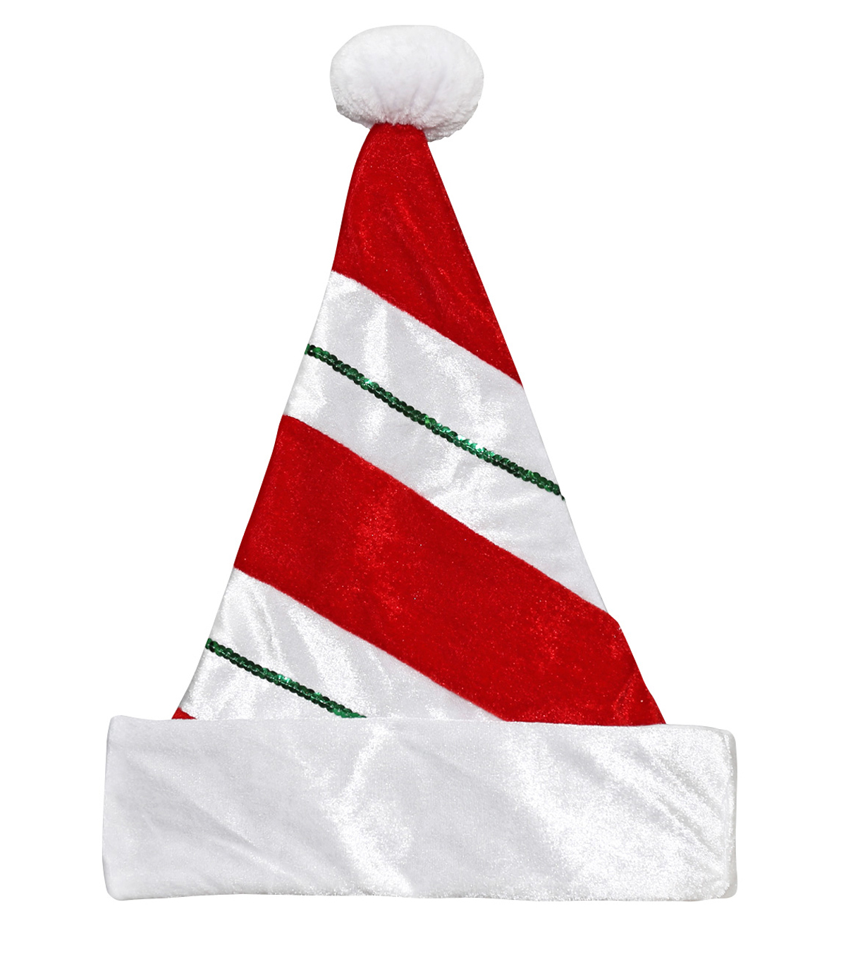 Maker's Holiday 17'' Santa Hat-Red & White