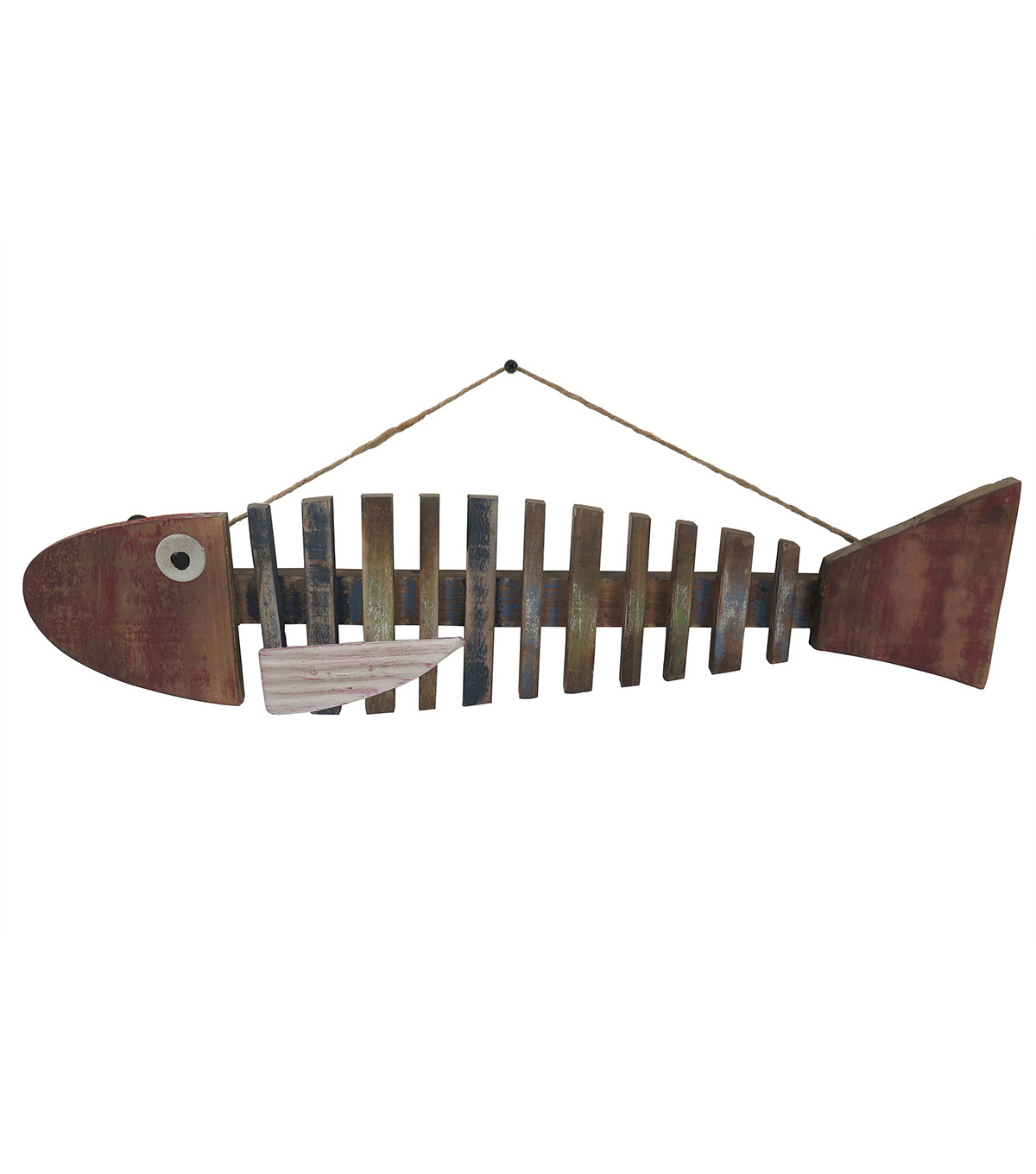 Sea to Sea Large Wooden Fish Wall Decor