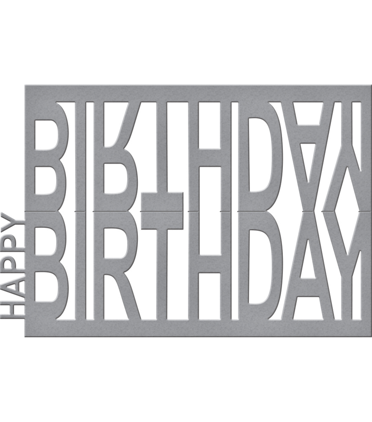 Spellbinders® Shapeabilities® Etched Die-Happy Birthday Easel