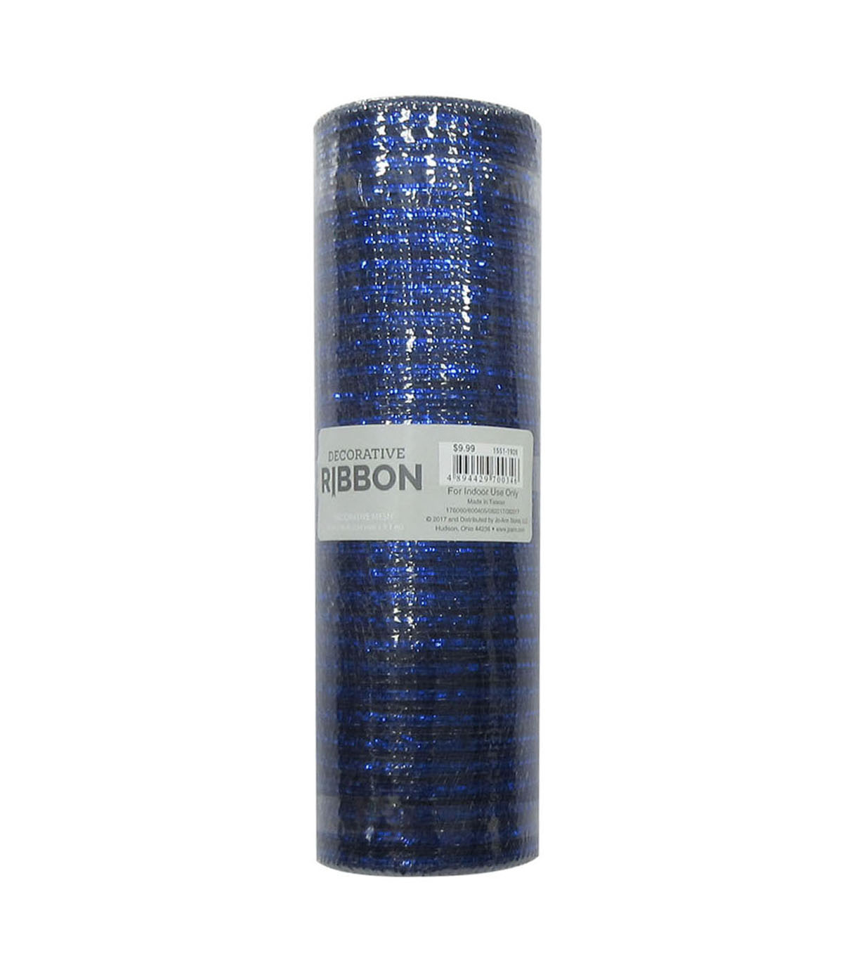 Decorative Ribbon Metallic Deco Mesh 10\u0027\u0027x10 yds-Navy Blue