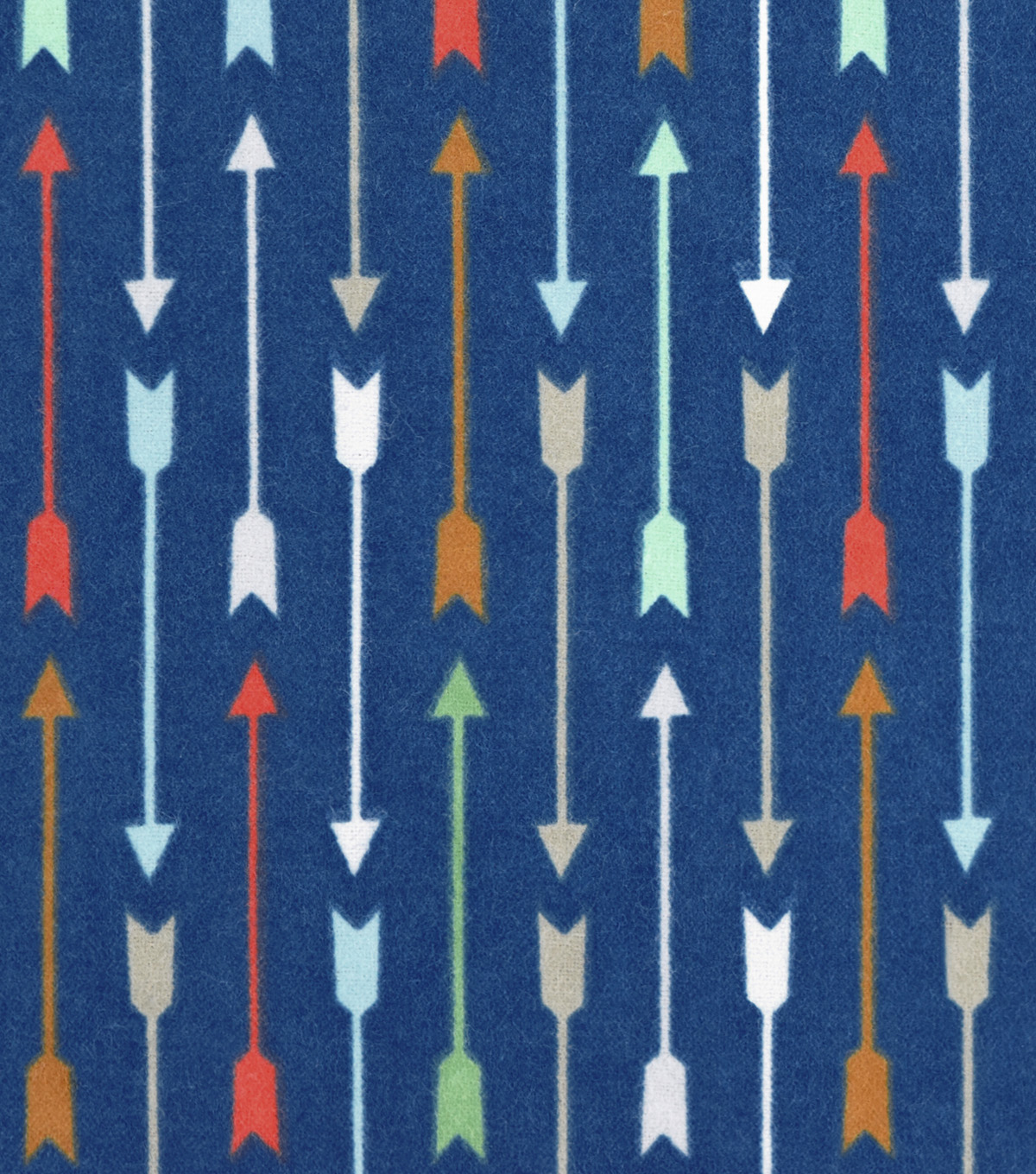 Snuggle Flannel Fabric 42\u0027\u0027-Multi Arrows On Blue