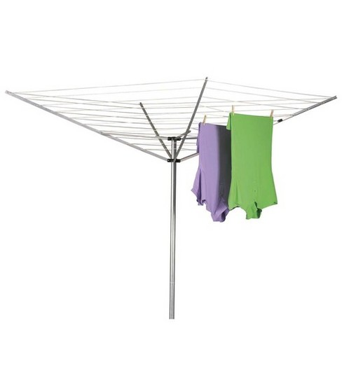 Household Essentials Umbrella Outdoor Aluminum Dryer 165\u0027 Drying Space