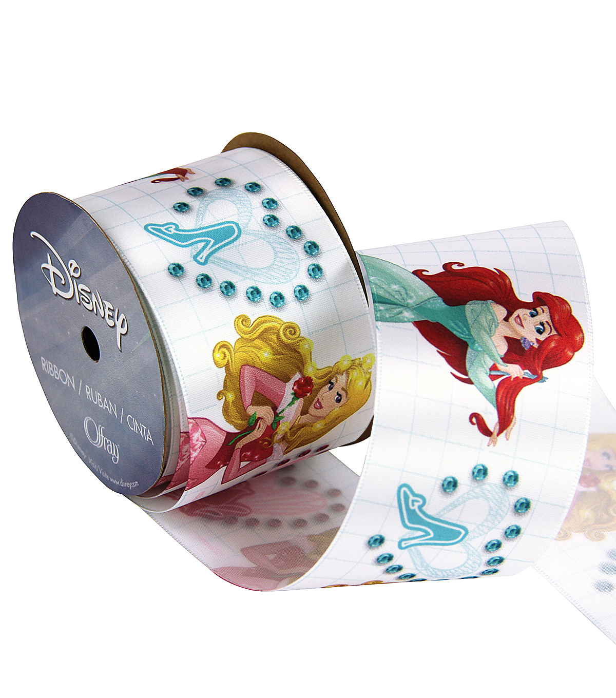 Disney Princesses 2 And 1 Qtr In Ribbon