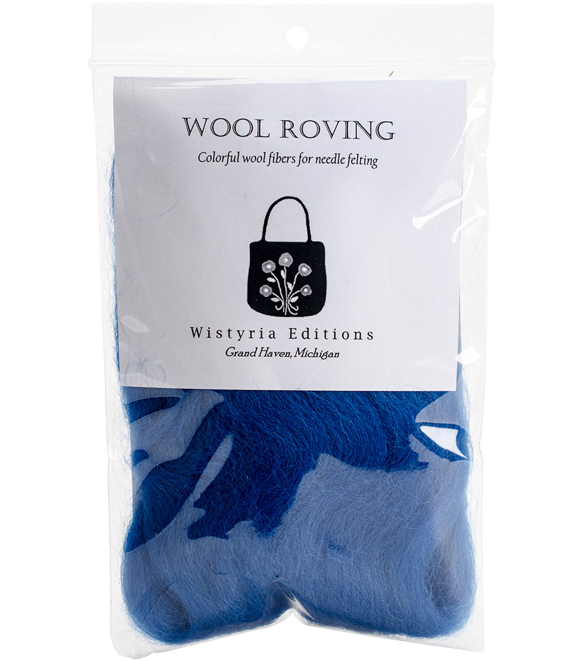 "Wool Roving 12"" .22oz-French Blue"