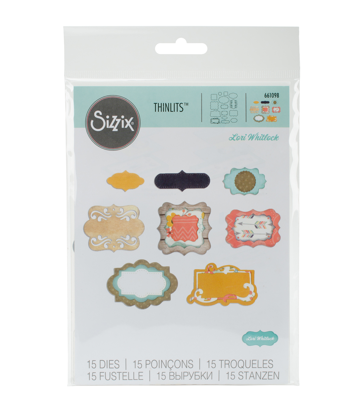 Sizzix™ Thinlits™ Lori Whitlock 15 Pack Dies-Perfect Labels