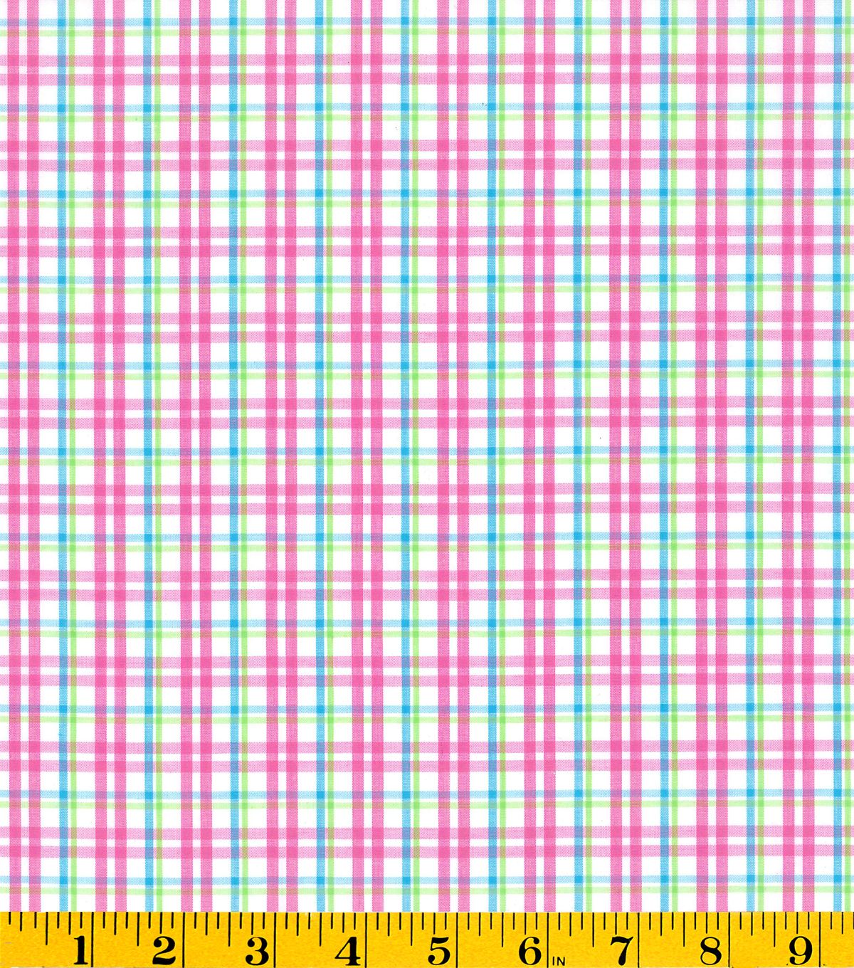 Summerville Woven Plaid Fabric-Pink/Green/Teal