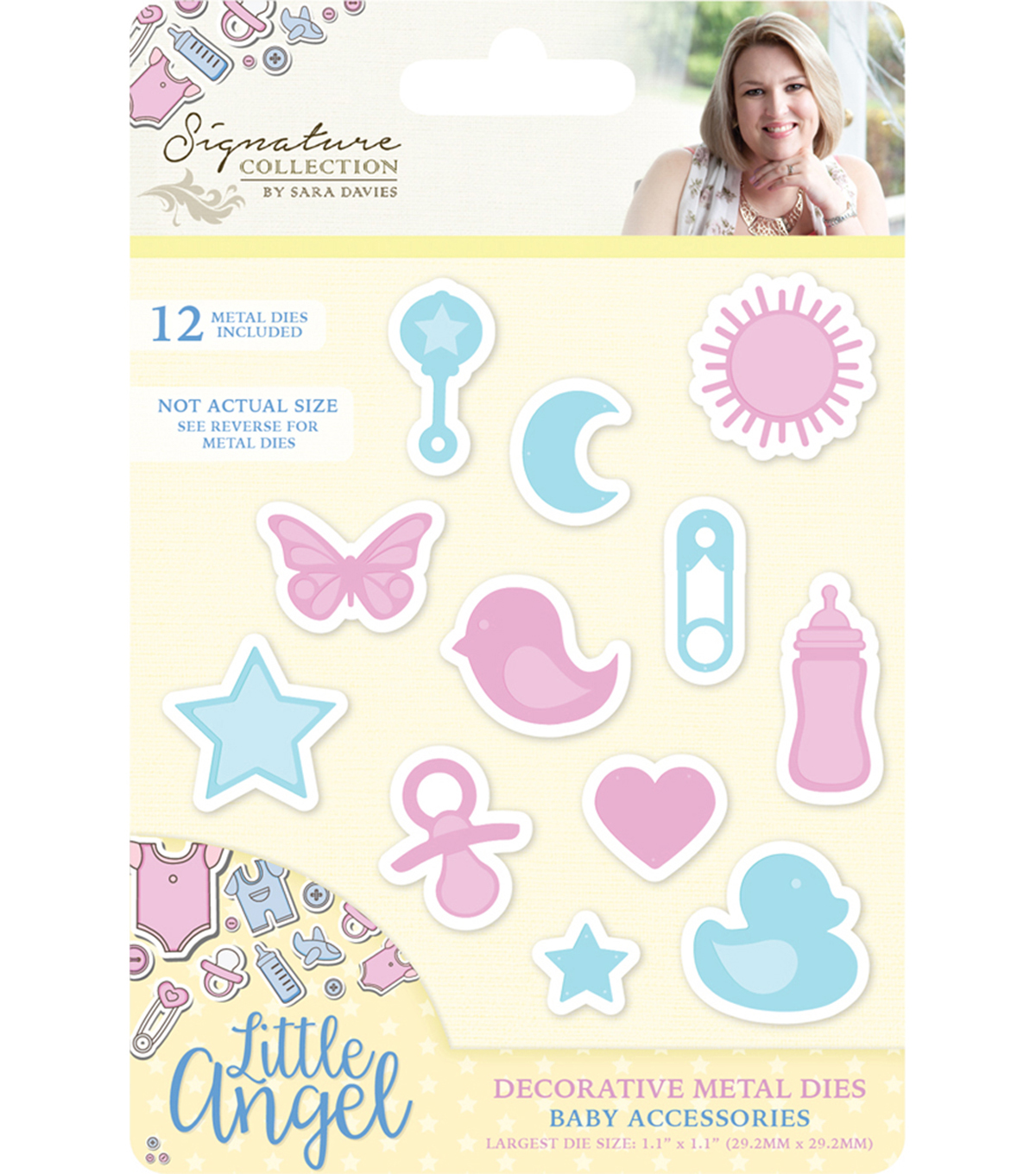 Sara Davies Signature Little Angel Metal Dies-Baby Accessories