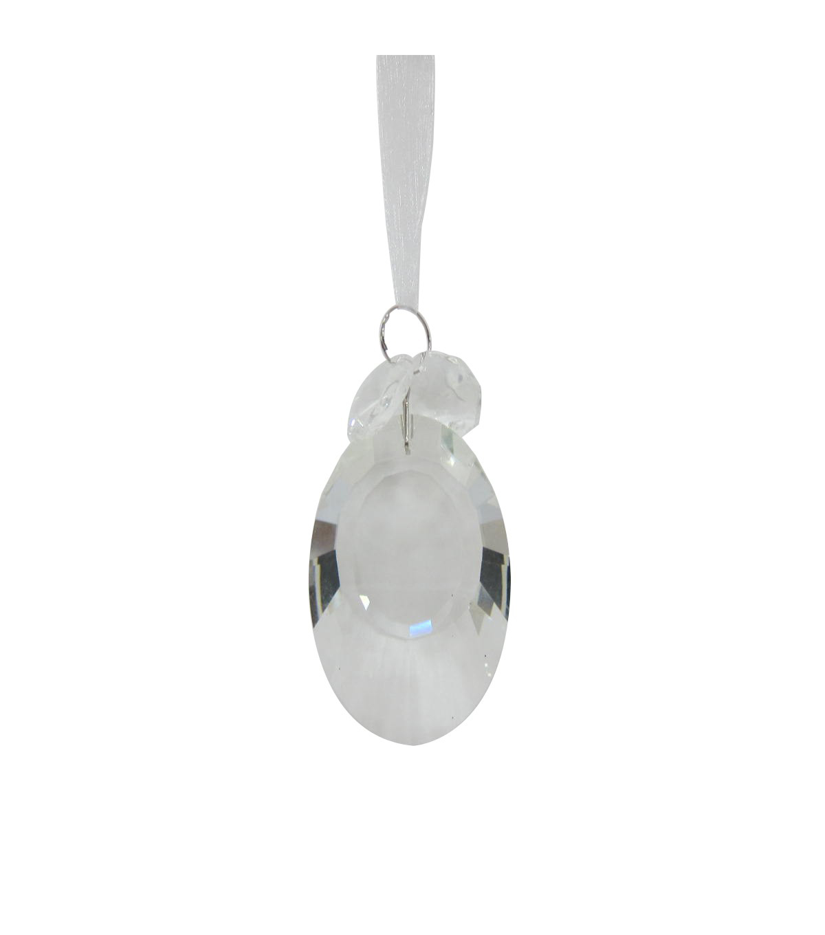Maker\u0027s Holiday Christmas Arctic Frost Crystal Round Drop Ornament