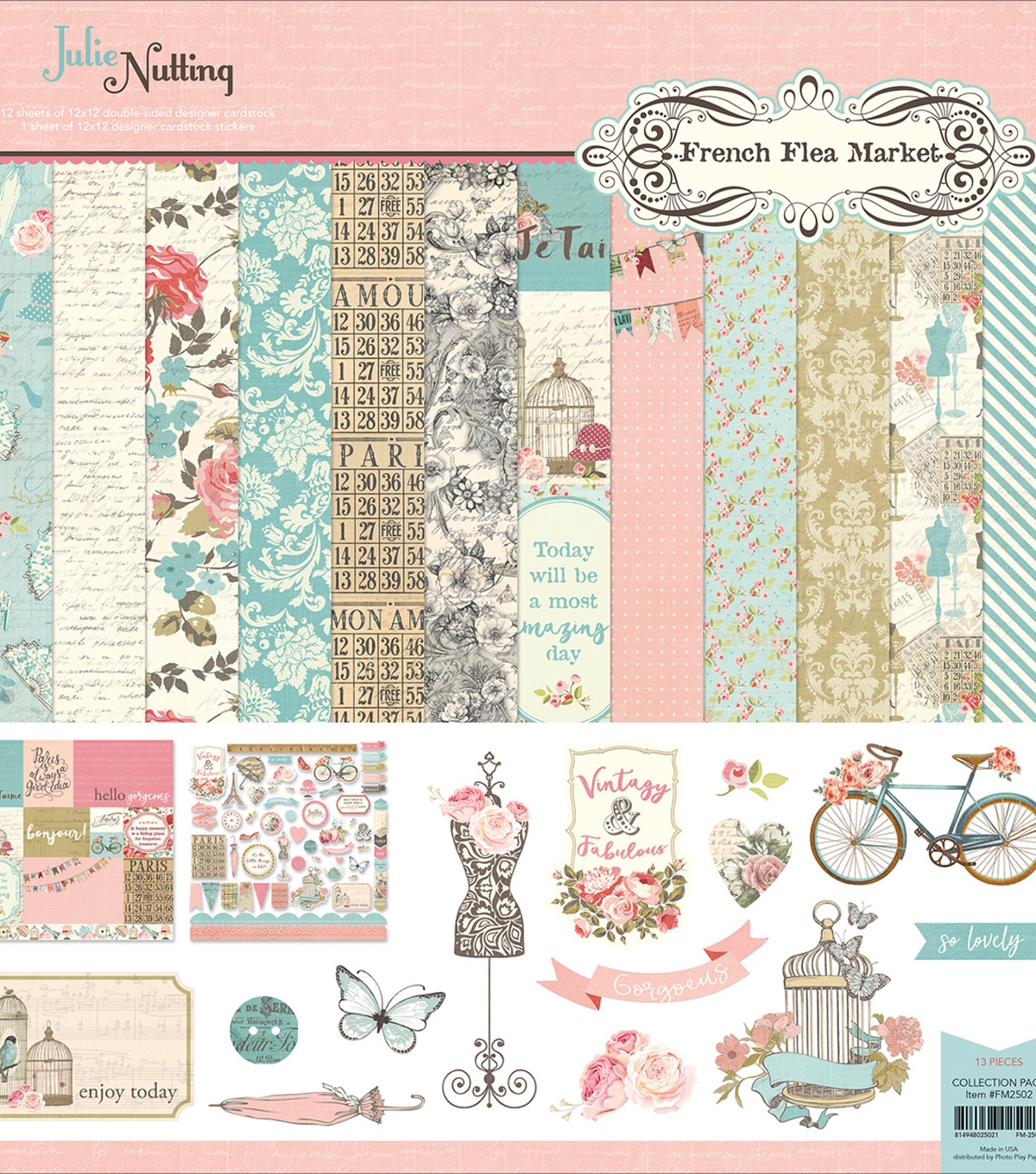Photo Play Collection Pack 12\u0022X12\u0022-French Flea Market