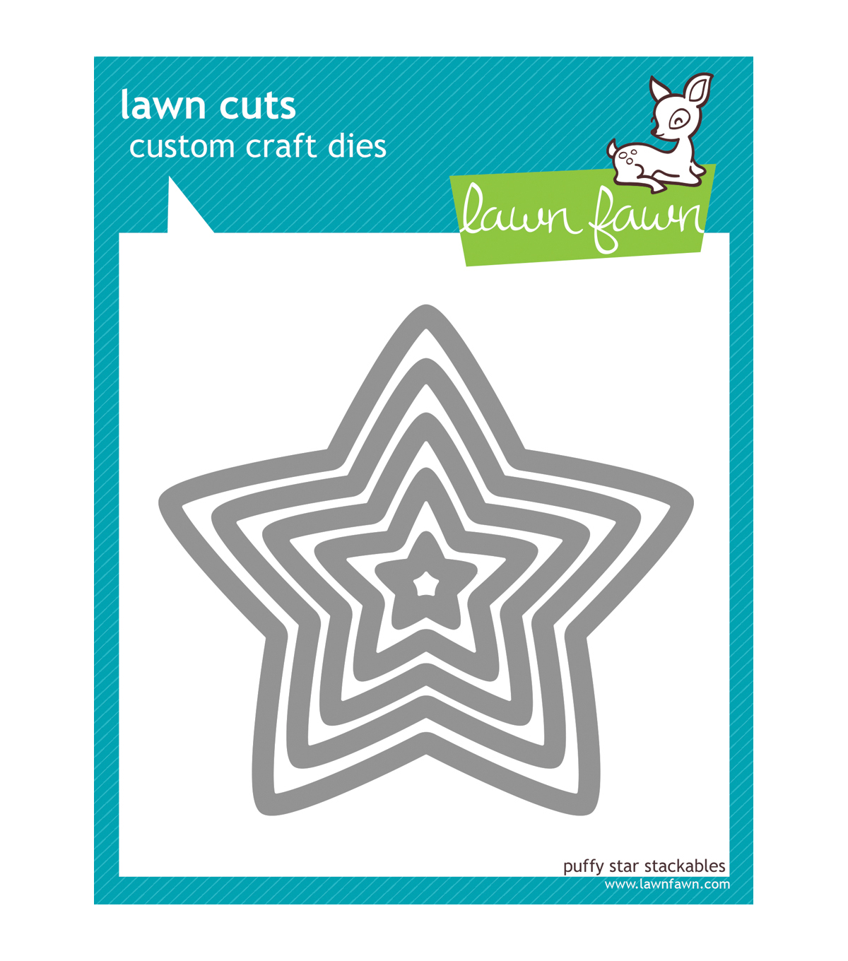 Lawn Fawn Lawn Cuts Custom Craft Die-Puffy Star Stackables
