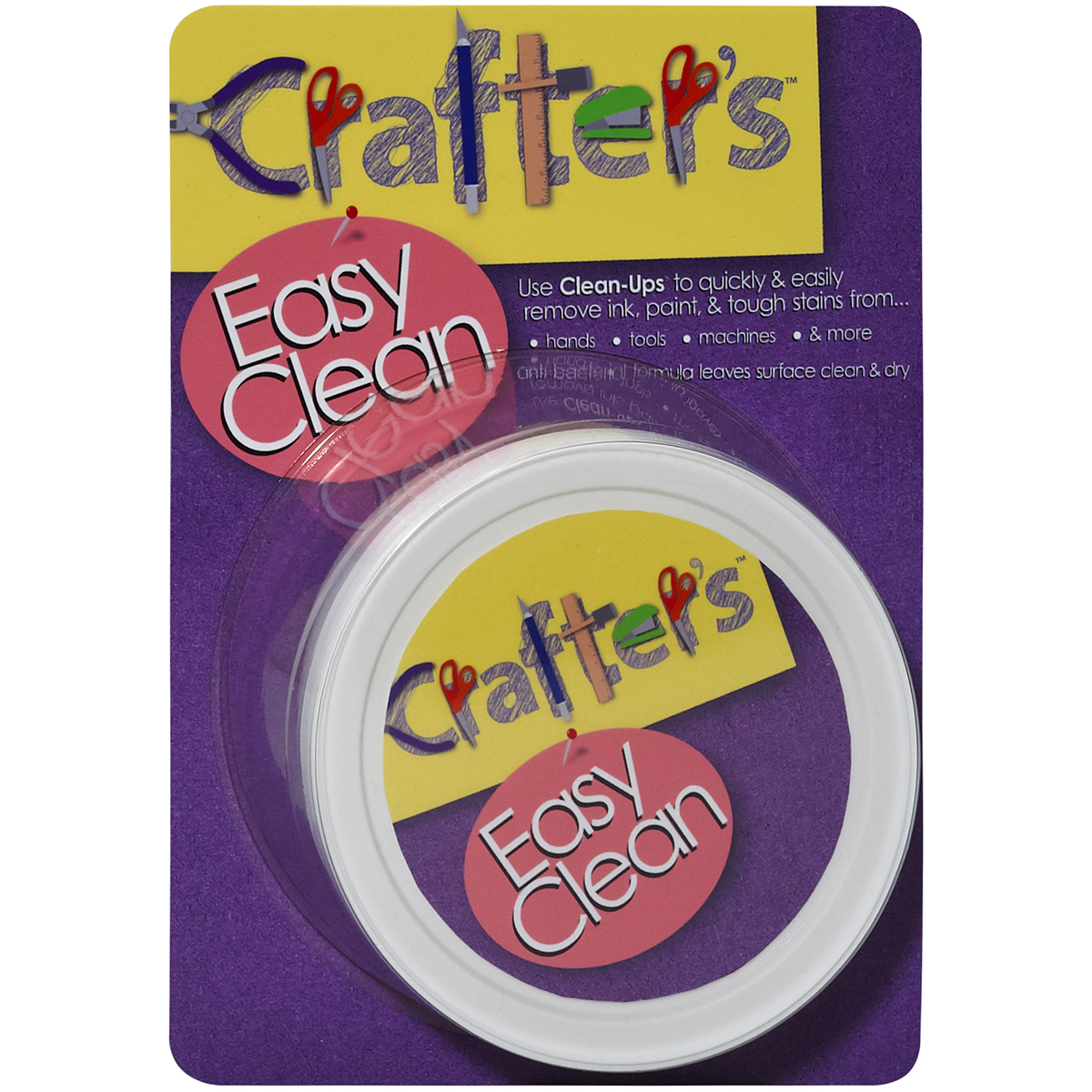 "Crafter's Easy Clean Pre-Moistened 3"" Hand Cleaning Pads-White 50/Pkg"